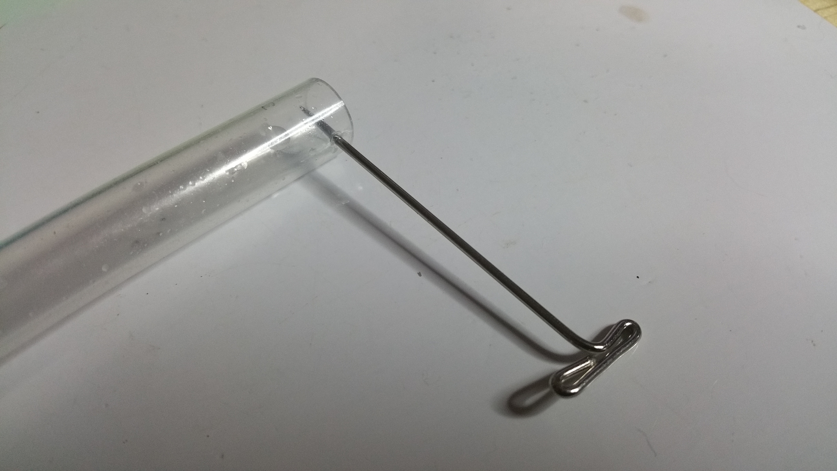 Coil tube. Whole made with T pin